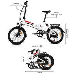 Folding Electric Bike 20'' Mountain Bicycle 350W City Commut