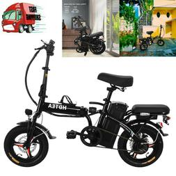 Folding Electric Bike 48V 14inch Electric Bike Suitable For