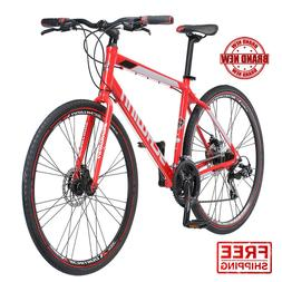 Hybrid Mens Mountain Bike 700c Schwinn Kempo 21 Speed Red Ro