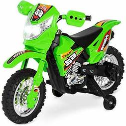 Kids Electric Ride On Motorcycle Dirt Bike w/ Safety Trainin