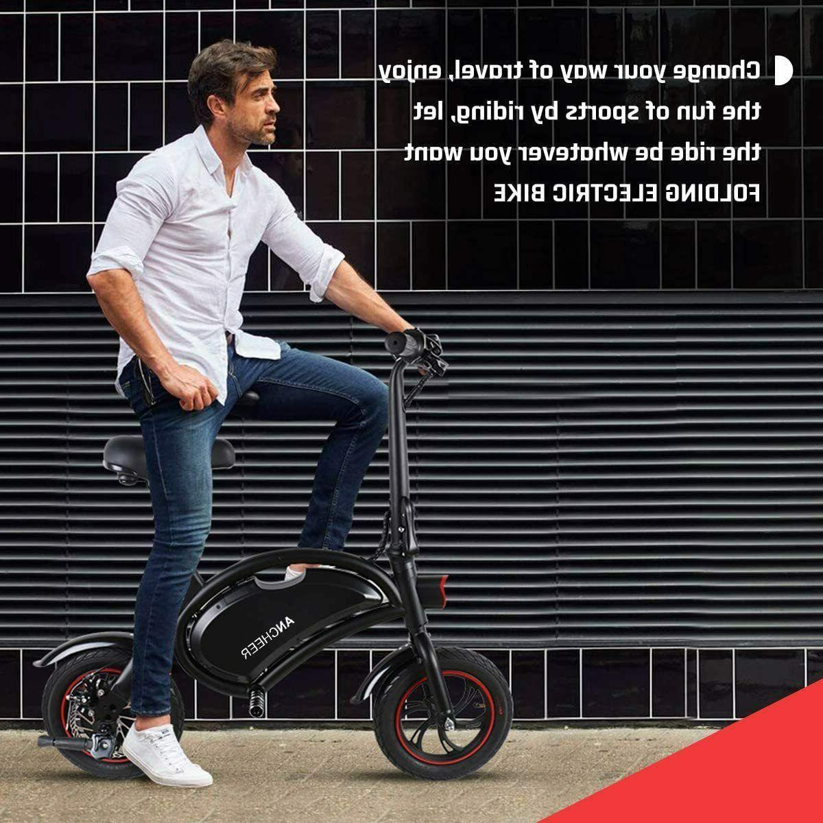 12''Folding Electric Bike City Bike Ebike,Man