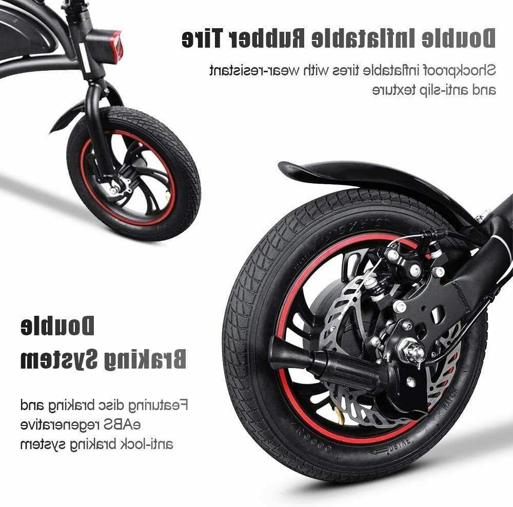 12''Folding Electric Bike City Bike Ebike,Man Woman,350W,36V,Li-Battery