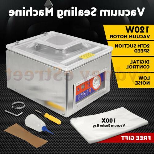 120w digital vacuum packing sealing machine sealer