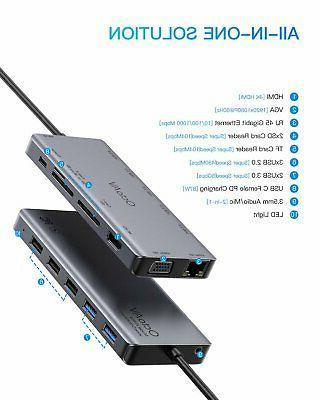 Octo AV 13-in-1 USB-C Hub Universal for Laptops Type Ports