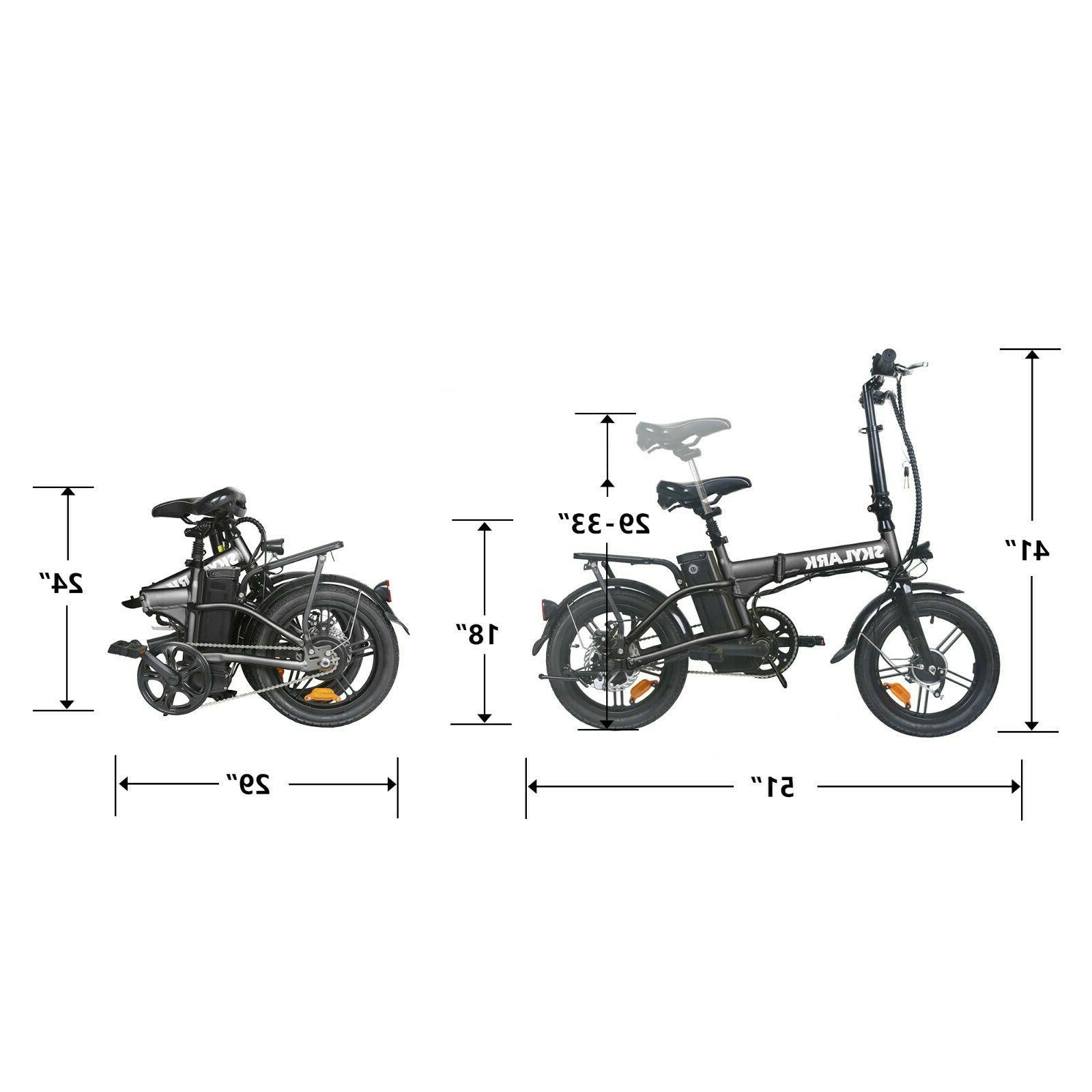 NAKTO Folding Bike Ebike 36V 10Ah Moped Bicycle