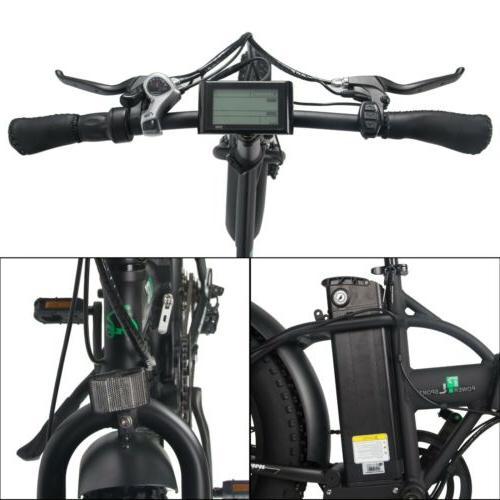 "20"" 13AH Folding Electric Tire Bike"