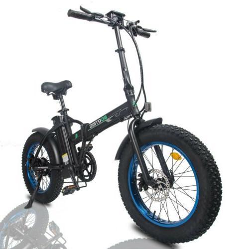 "20"" 500W Folding Fat Bike Ebike"