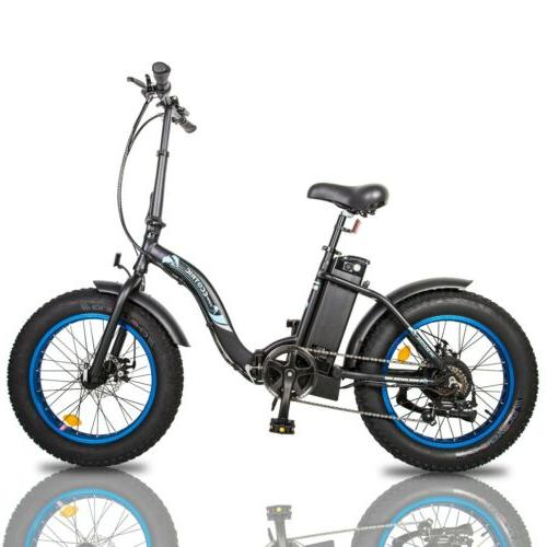 """ECOTRIC 20"""" Folding Bicycle Fat Speed"""