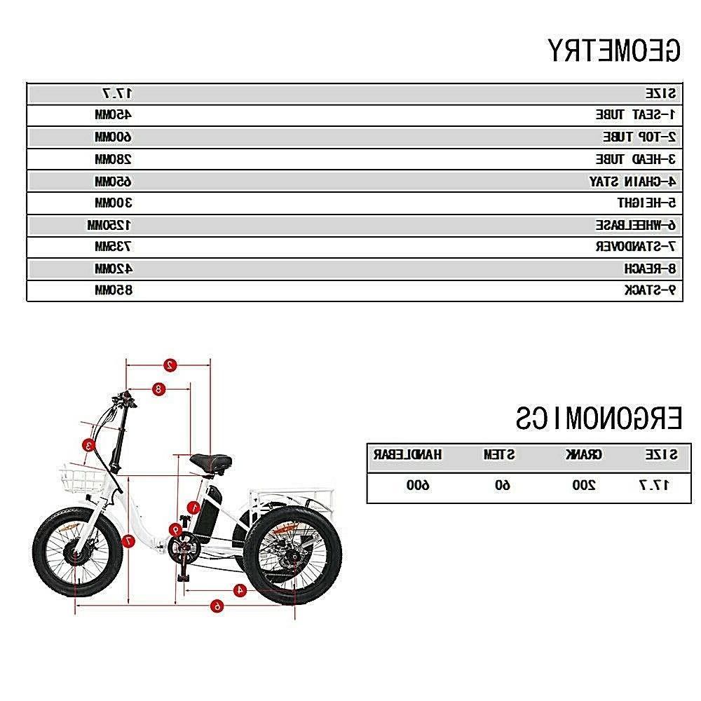 "Eunorau 20"" NEW TRIKE E-Bike"