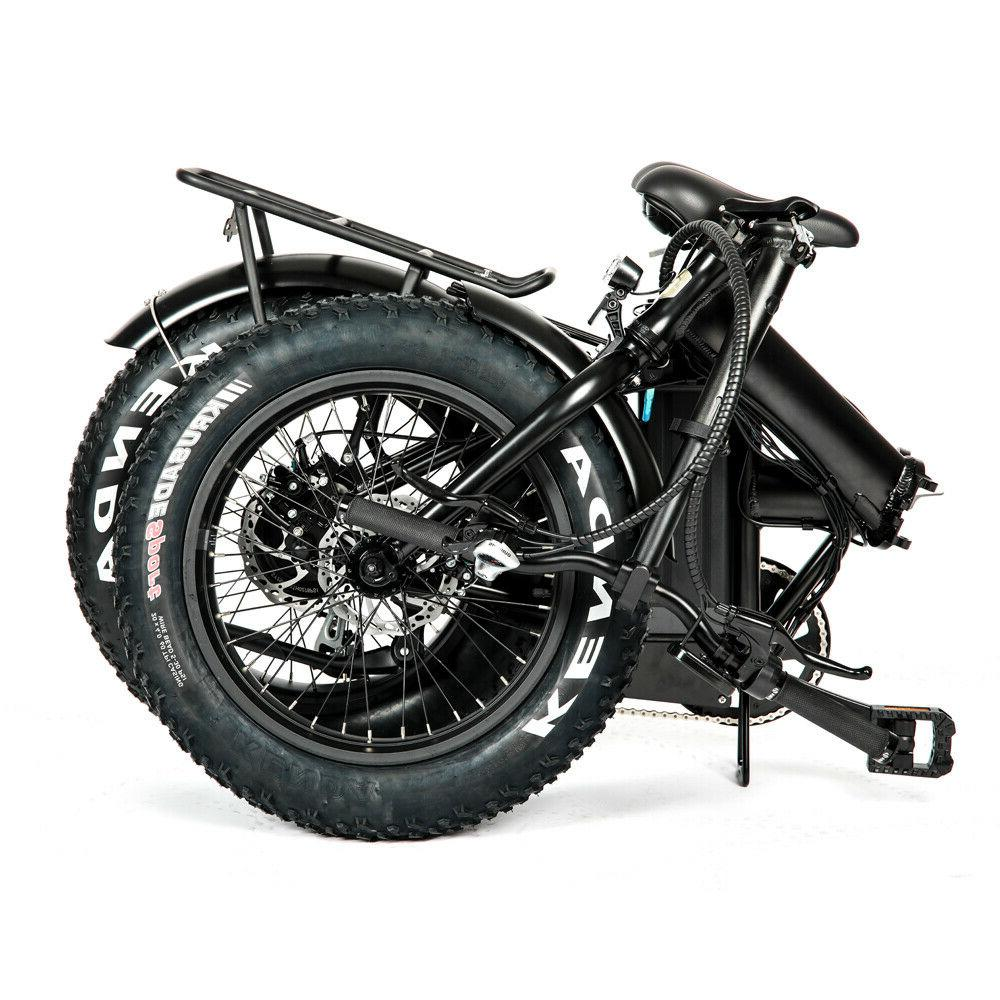 "Eunorau 20"" Model E-FAT-MN Green Black E-Bike"