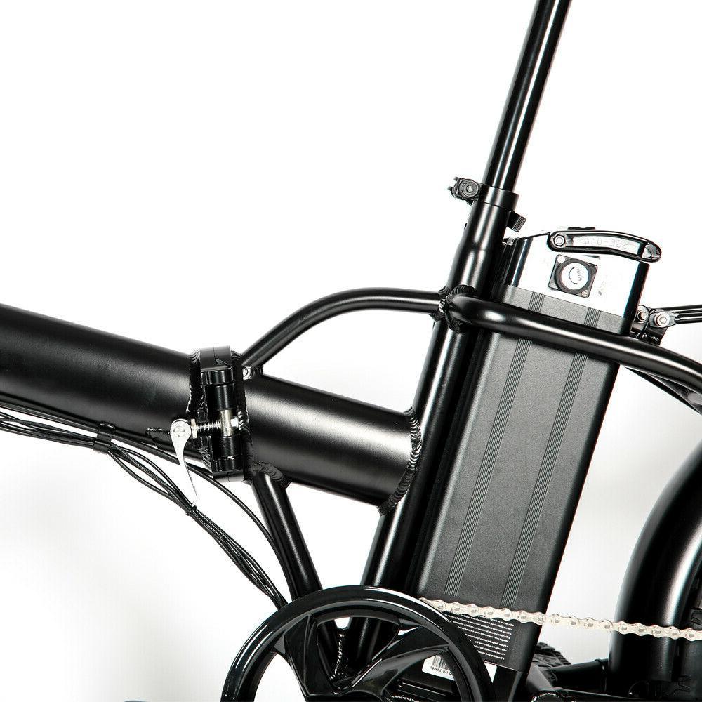 """Eunorau 20"""" Fat Tire Model Black E-Bike"""