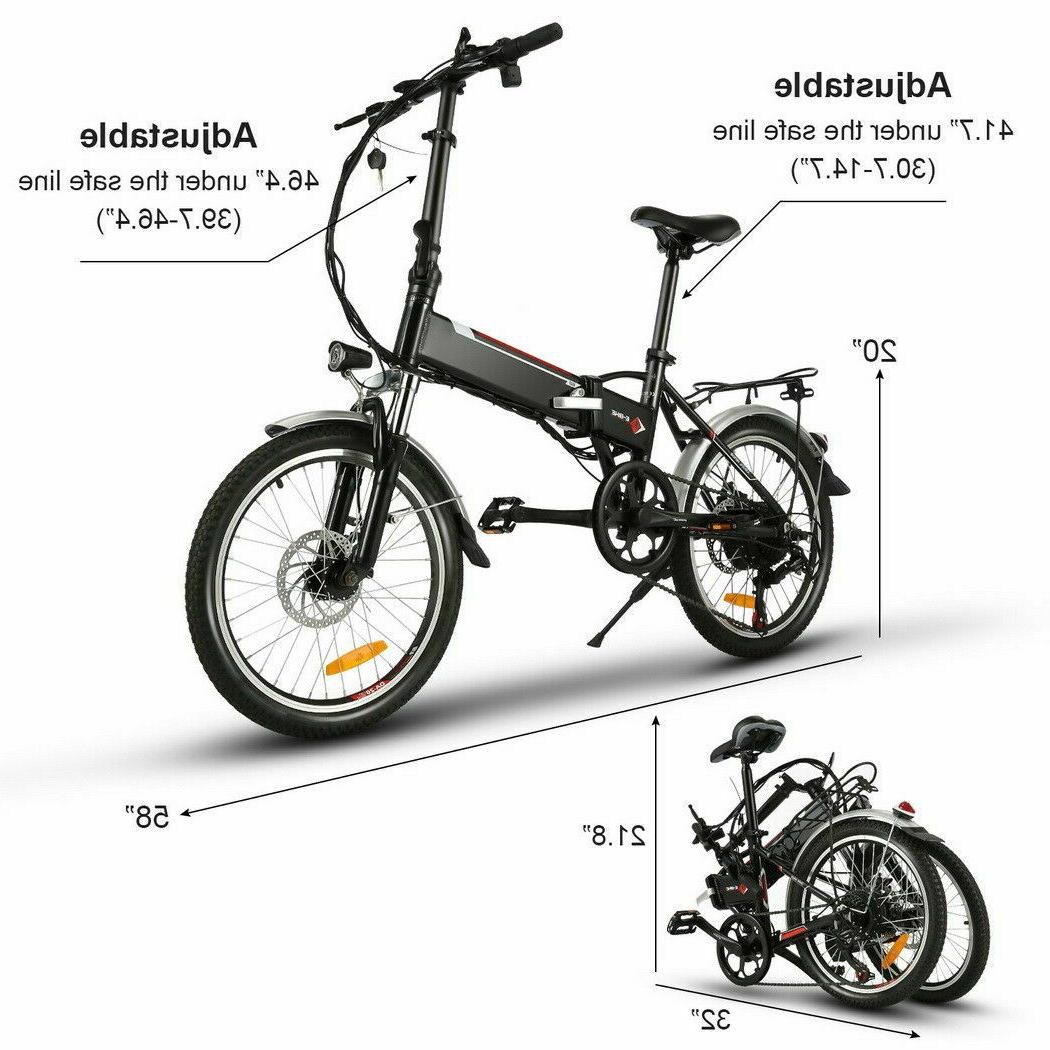 20INCH Electric City Ebike Battery Bicycle