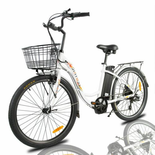 """26""""36V10AH Electric e-Bike 7 speed Removable Battery"""