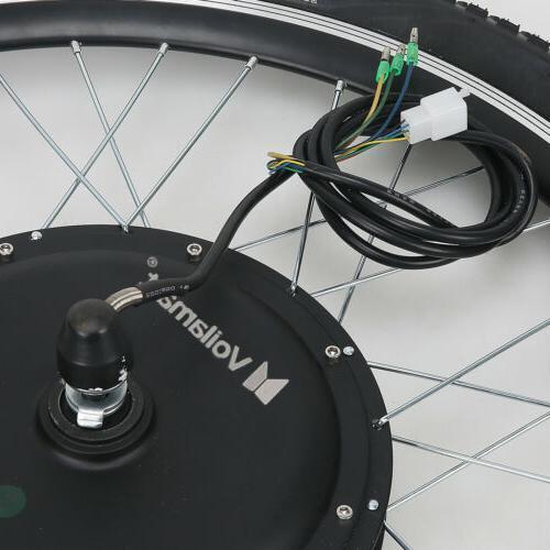 "24""Electric Bicycle Motor Conversion Kit Wheel Bike Hub 48V1000W"
