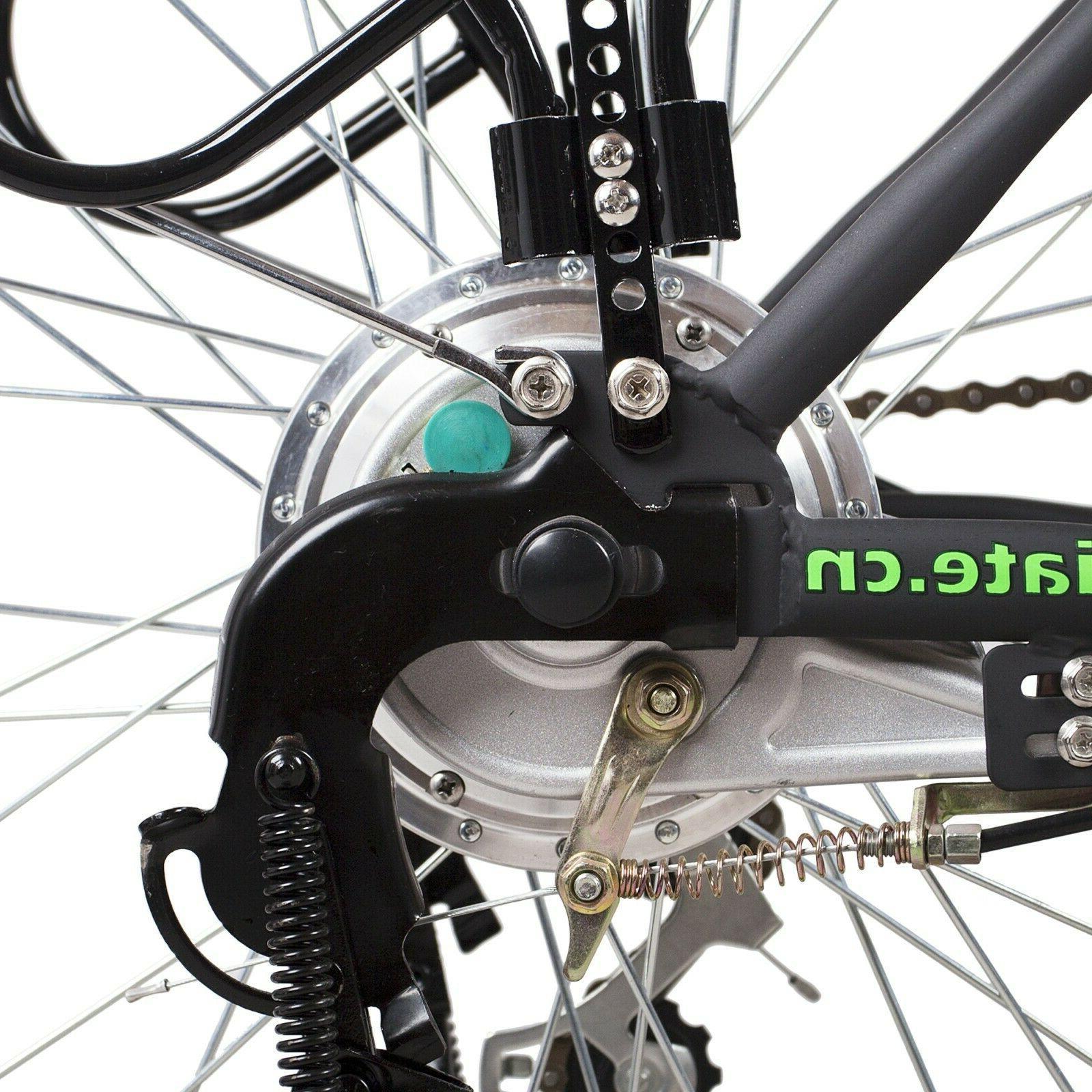 """NAKTO 26"""" Camel Bike Motor City E-Bike 36V10AH 6 Speed"""