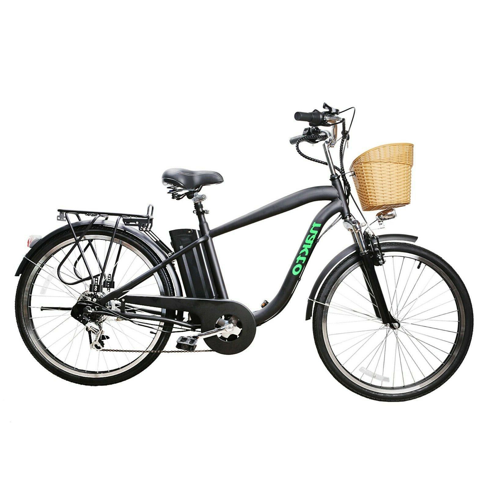 26 camel electric bike 250w motor city