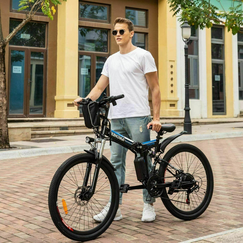 "26"" Electric E-Bike Folding Bicycle Cycling 21-Speed Man&Woman"