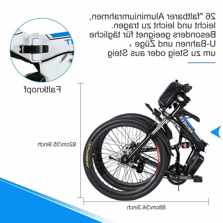 """26"""" Electric E-Bike Folding Cycling 21-Speed"""
