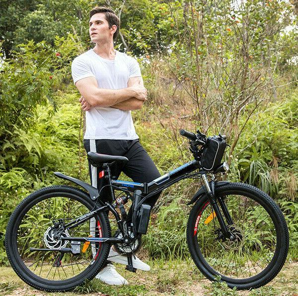 """26"""" Electric Bike E-Bike Folding Mountain Cycling 21-Speed Man&Woman"""