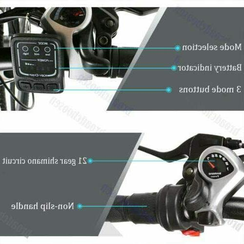 "26"" Electric Folding Mountain Bicycle 21~Speed Man 36V"