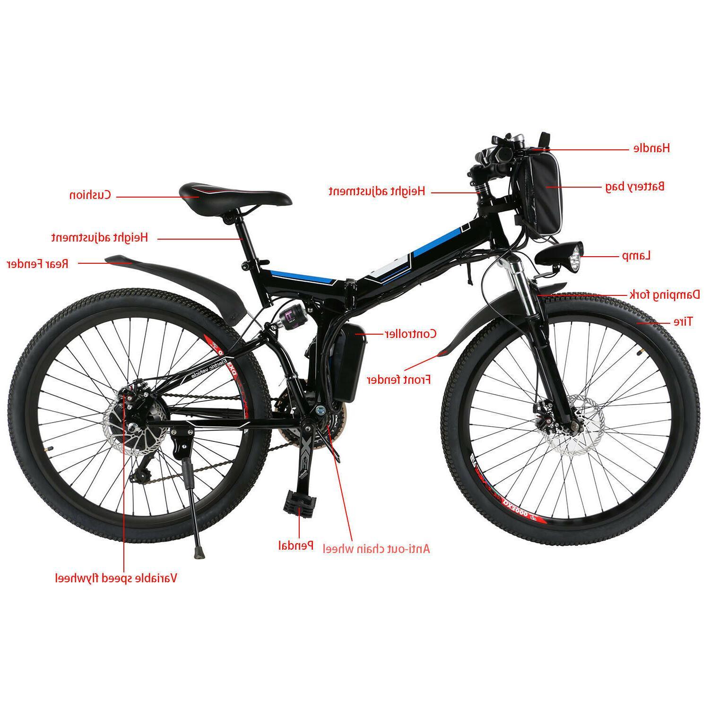 26'' Electric Bike Mountain Bicycles Cycling 21
