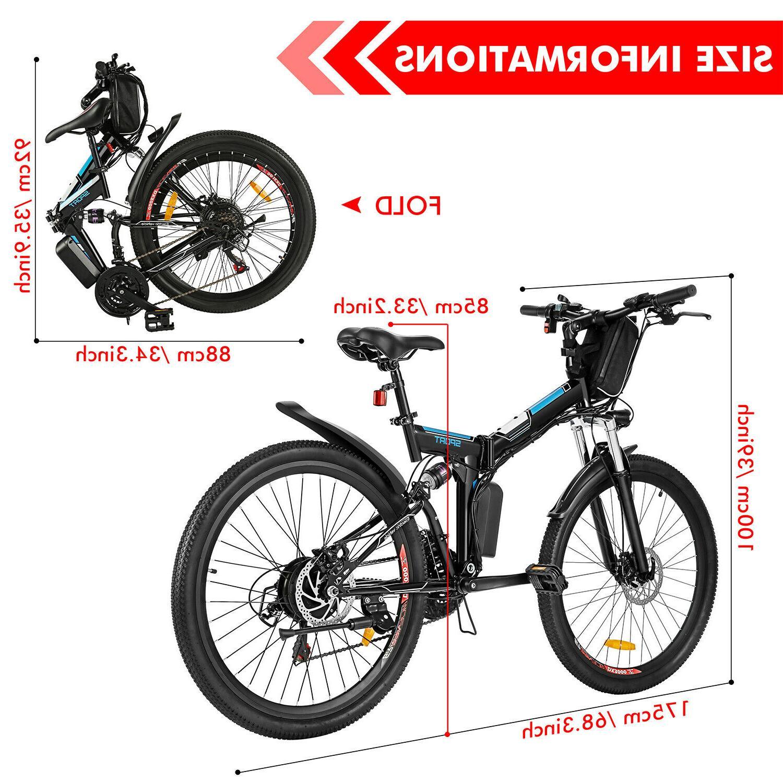 26'' Electric Bike E-bike Mountain Folding Cycling Speed
