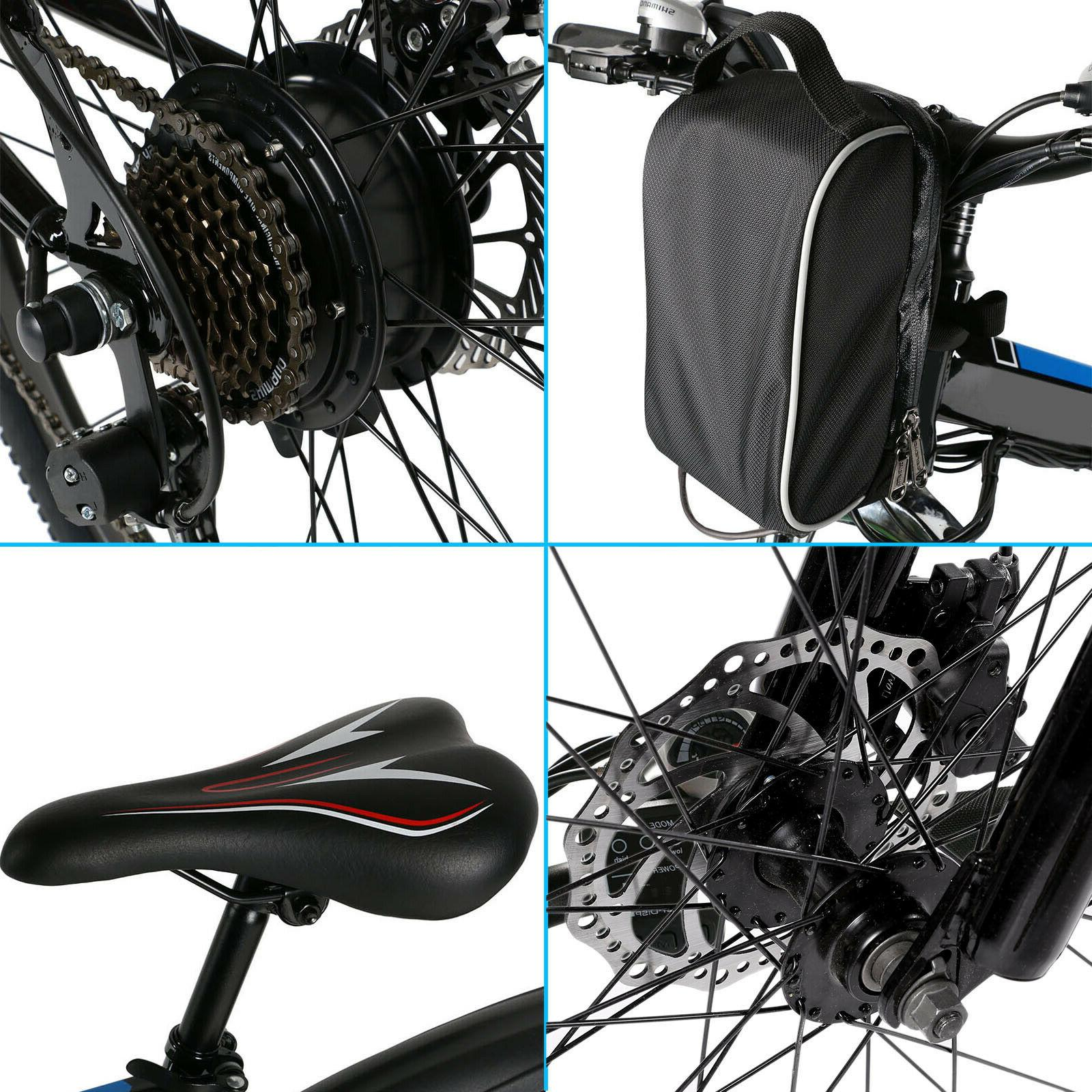 """26"""" Electric Folding Mountain Bicycle Cycling 21-Speed"""