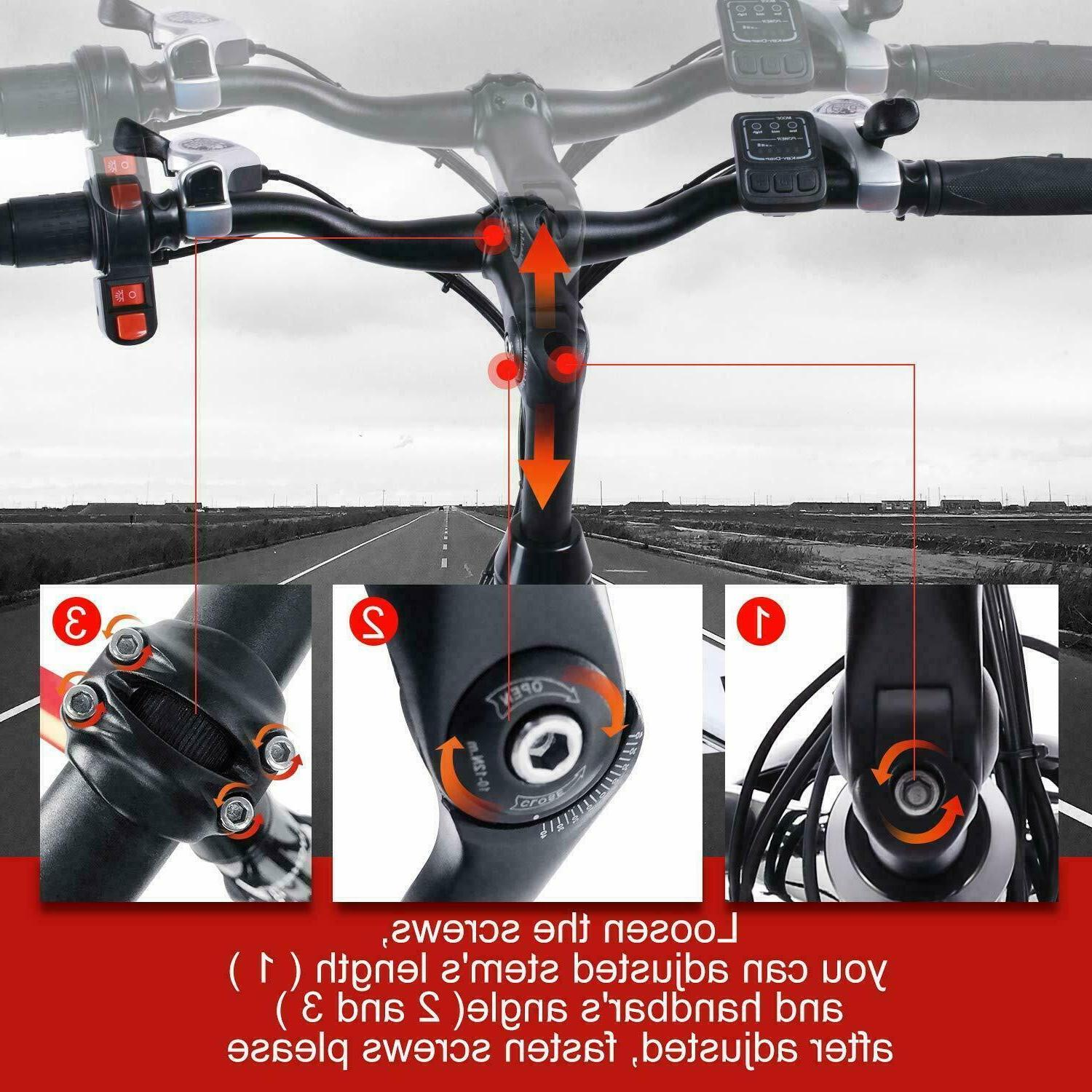 500W 26'' Mountain Bicycle 12.5Ah Lithium-Ion Battery