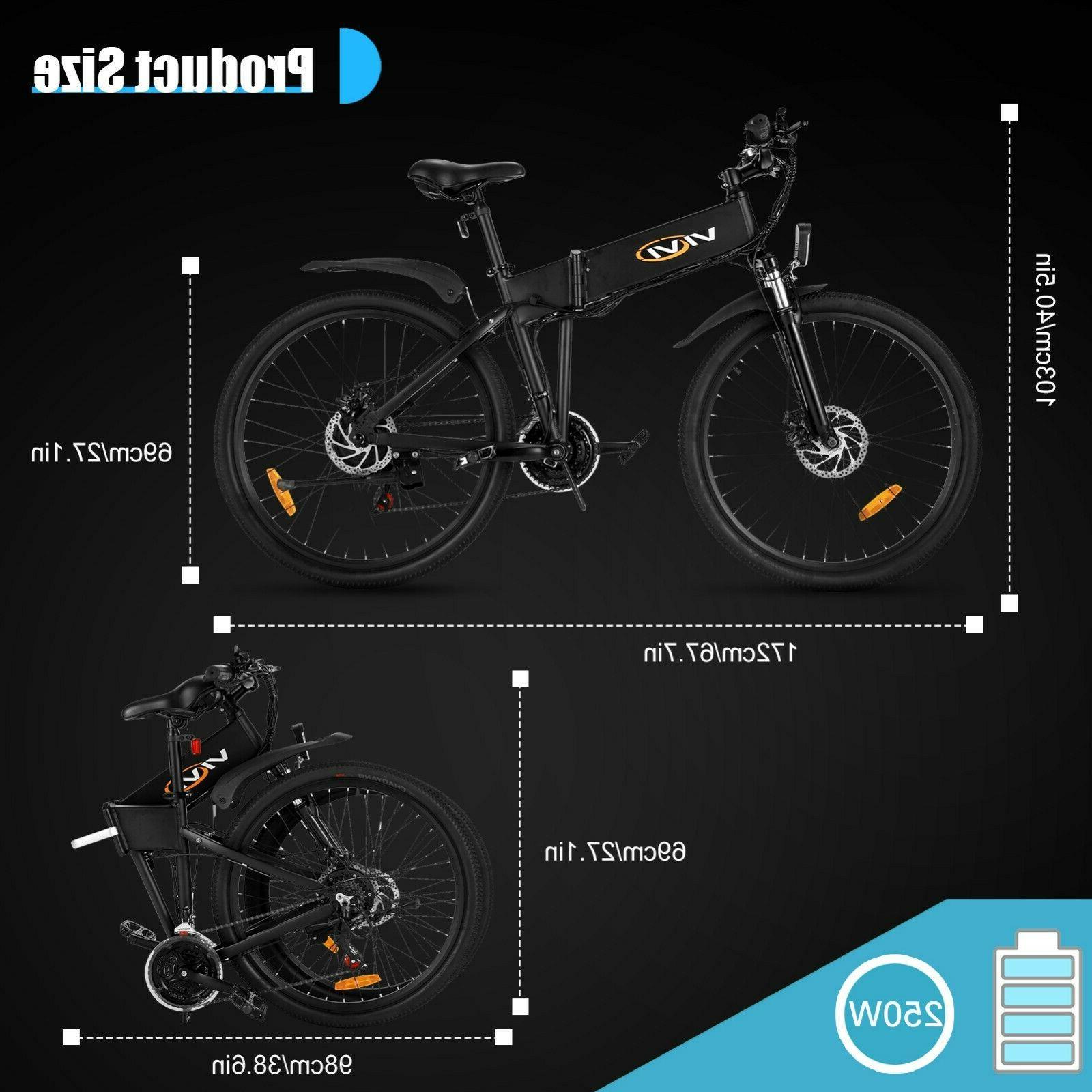 🛴26'' Electric Bike Bicycle City EBike 21 Speed New Hot !