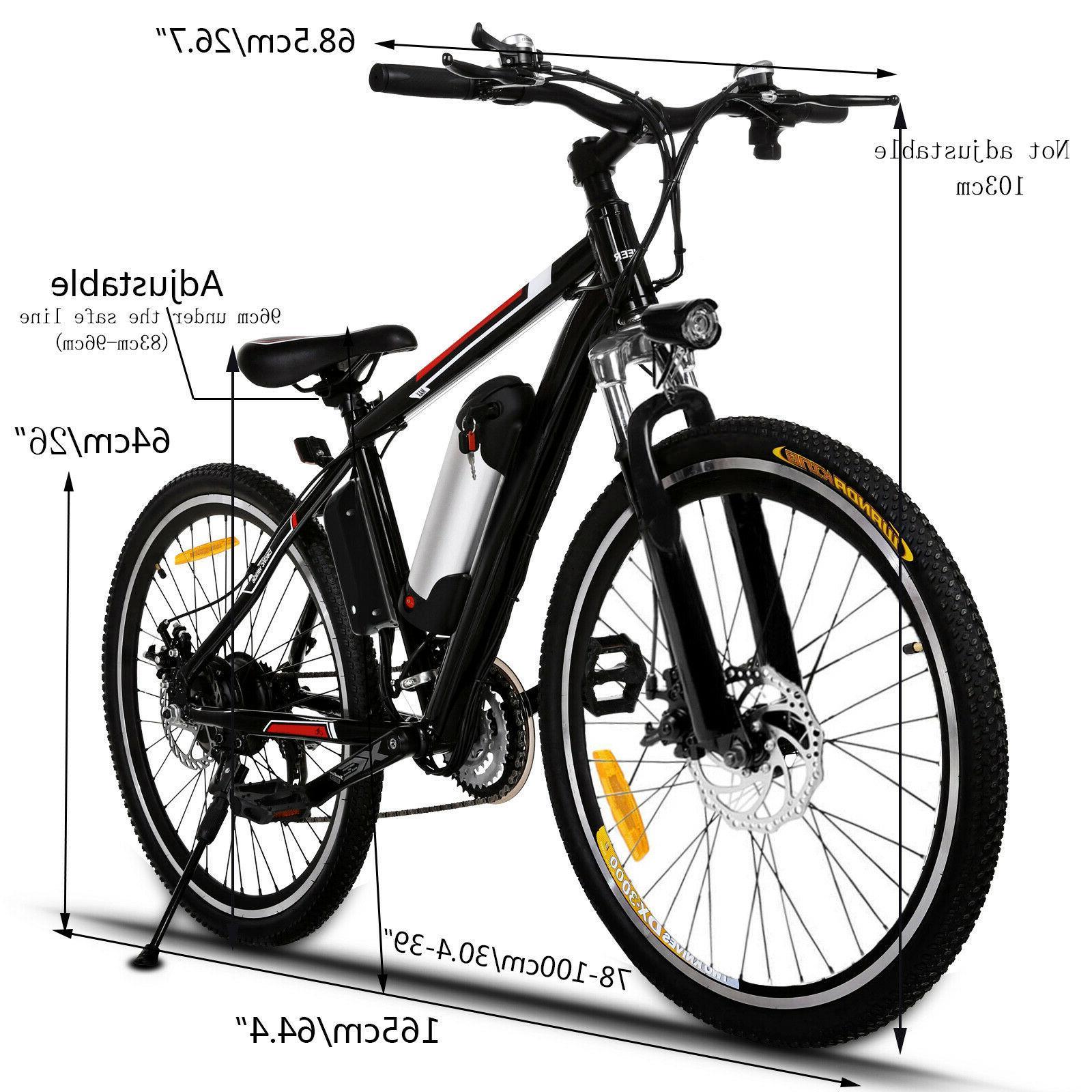 26INCH Electric Bike Mountain Bicycle 36V Li-Battery~