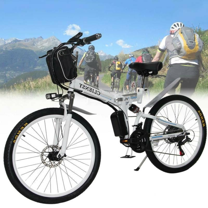 """CLIENSY 26"""" Folding Bicycle Bike 36V Cycling EBike"""