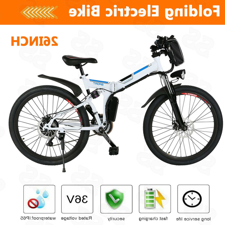 "Brand New 26"" Electric Bike Folding Mountain Bicycle 36V 8AH"