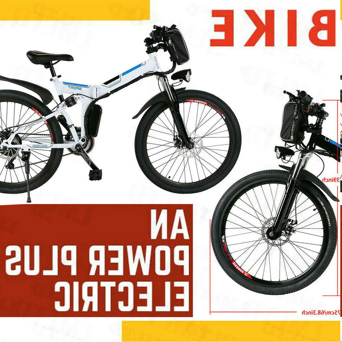 26 folding bicycle electric bike city mountain