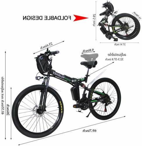 """CLIENSY 26""""Folding Electric Bike City Mountain Cycling EBike"""