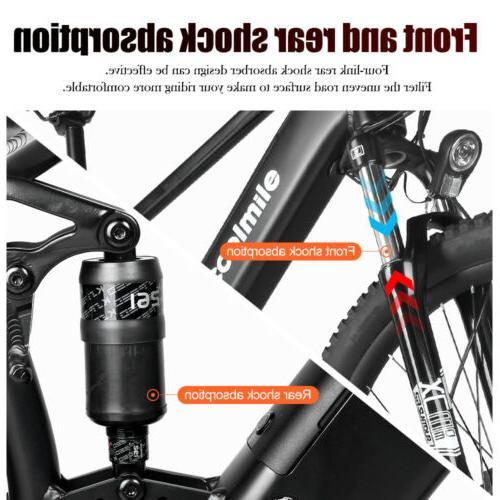 "27.5"" Tire Electric Mountain Bike Treeking Bike 48V 750W Mid Motor"
