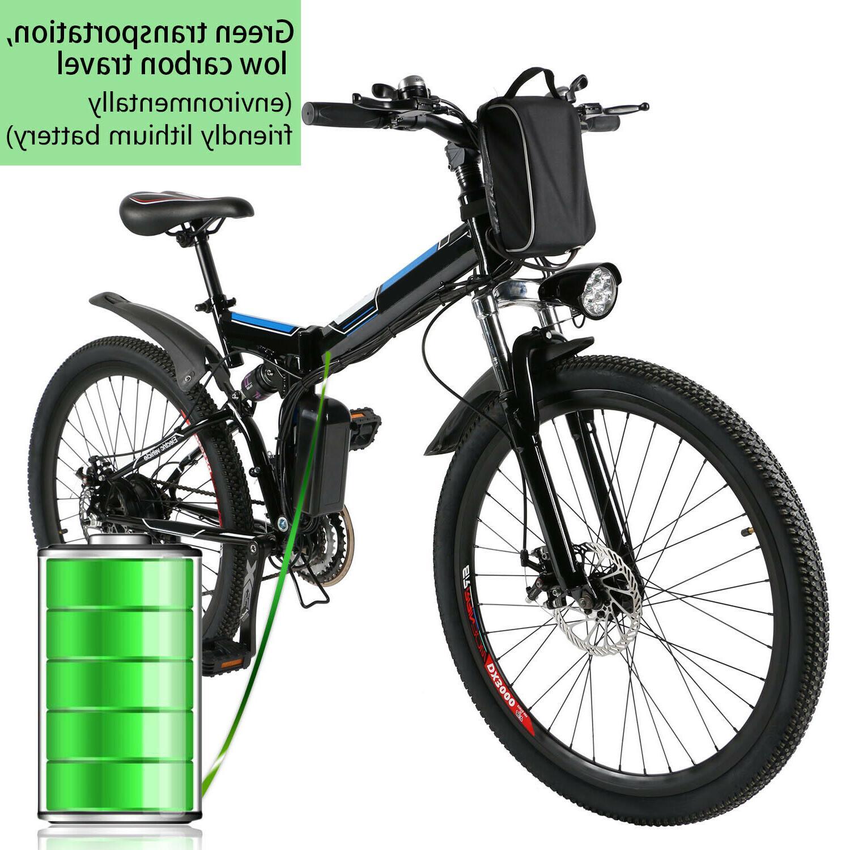 """26"""" Electric Bike E-Bike 21-Speed"""