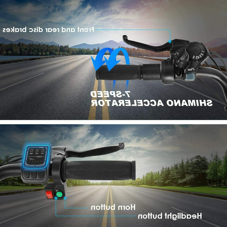 26INCH Bike Mountain Bicycle EBike 36V Li-Battery~