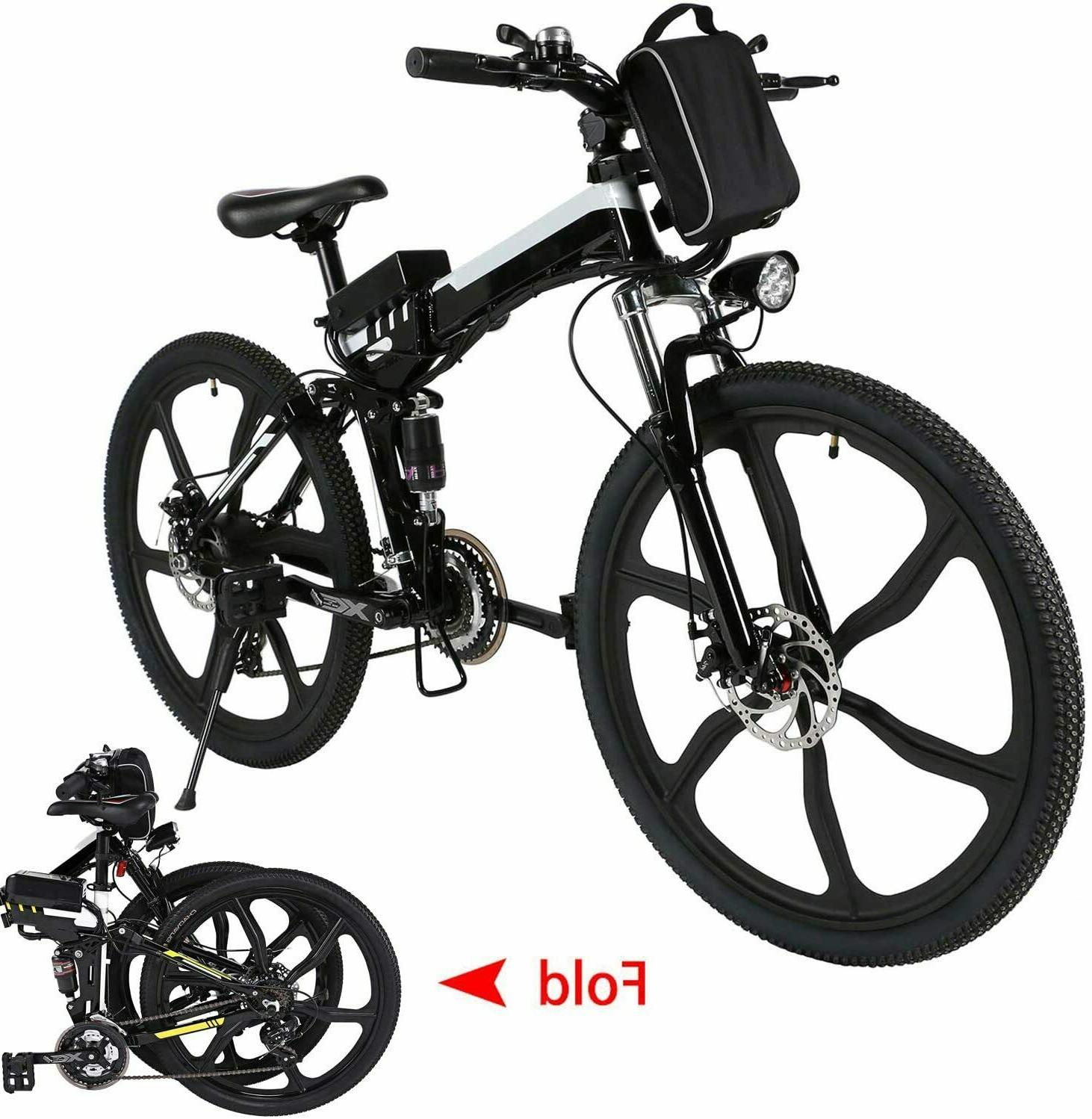 26INCH Electric Bike Folding Mountain Bicycle Shimano Speed