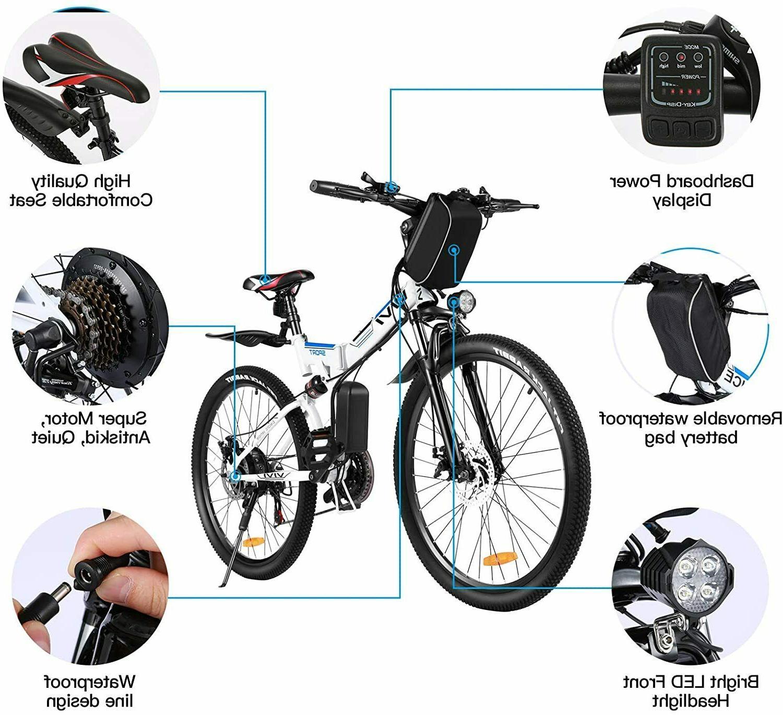 350W Folding Bike Mountain Bicycle Commute 21Speed_USA