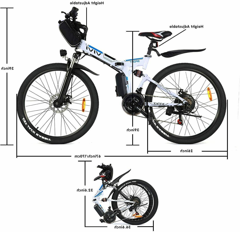 "350W 26"" Folding Bike Mountain Bicycle City Commute"
