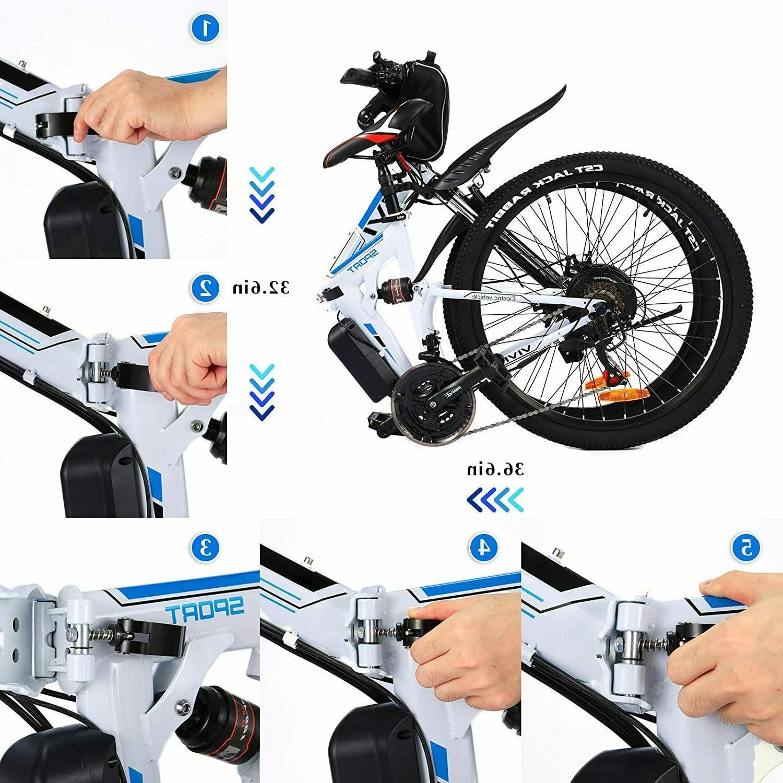 "350W 26"" Folding Electric Bike Mountain"