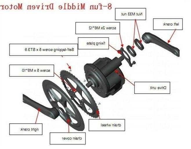 8fun 36v 250W BBS01B Mid Electric Bicycle