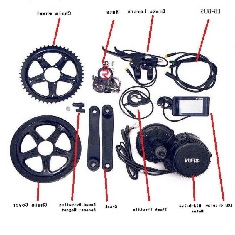 8fun 36v Mid Drive Crank Motor Electric Bicycle