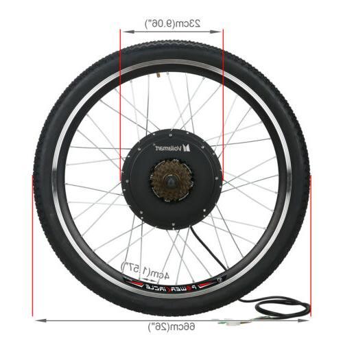 """26""""1500W Rear Wheel Electric Bike Conversion"""