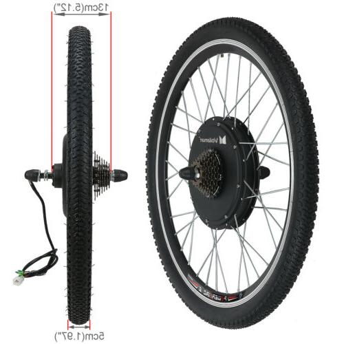"""26""""1500W Rear Wheel Electric Bike Conversion Kit Cycling"""
