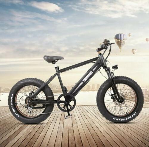 "Electric Bike Folding 20"" Fat Bikes 6-Speed"