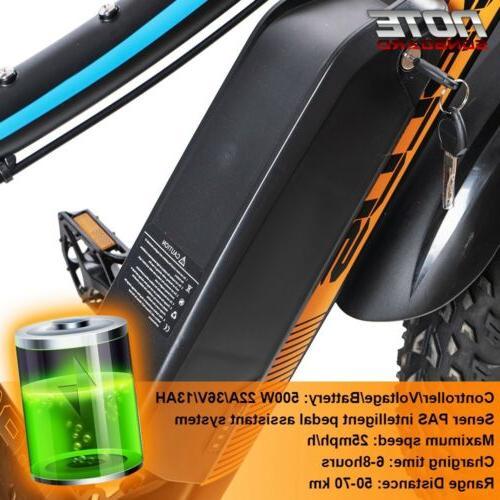Electric Fat Bike Beach e-bike 36v 500w Black/Orange New