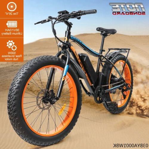 electric fat tire bike beach snow bicycle