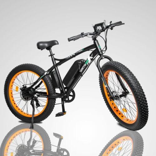 electric fat tire bike beach