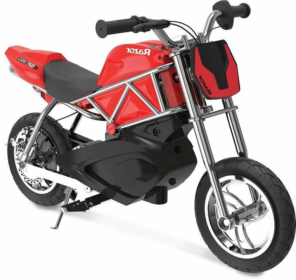 Electric Street Bike 24V Red E-Bike Fun Toy For Kids 8-13+ A